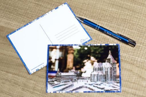 Stadt-Forscher - Stadtführung & Schnitzeljagd - Postkarte Modell Rostock