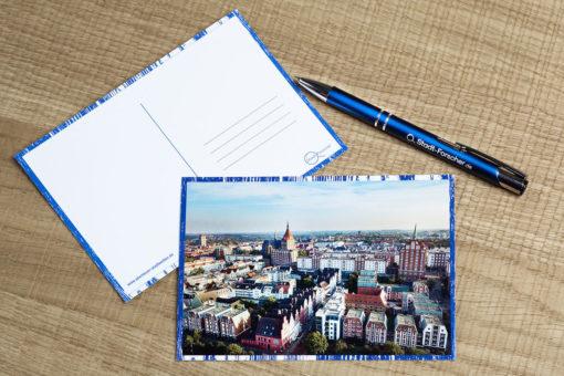 Stadt-Forscher - Stadtführung & Schnitzeljagd - Postkarte Rostock von Oben