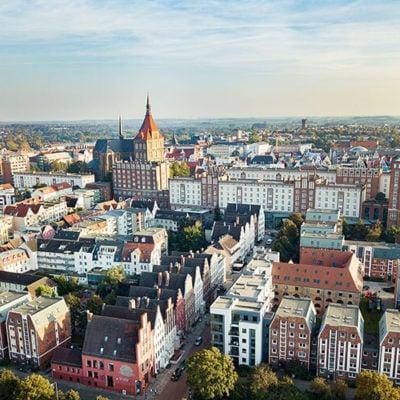 Abenteuer Stadtwelten Stadtführung Rostock Warnemünde Rostock von Oben